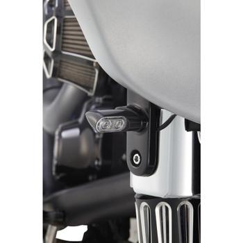 Arlen Ness Bolt-On Amber Turn Signals for 2006-2020 Harley Touring - Black