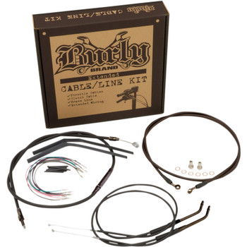 Burly T-Bar Cable and Brake Line Kit for 2004-2006 Harley Sportster