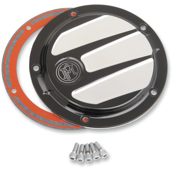 Performance Machine Scallop Derby Cover for 1999-2018 Harley - Platinum Cut