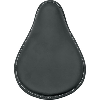 Drag Specialties Small Low-Profile Spring Solo Seat - Black Leather White Stitch