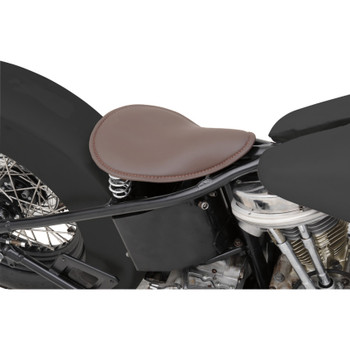 Drag Specialties Small Low-Profile Spring Solo Seat - Brown Leather