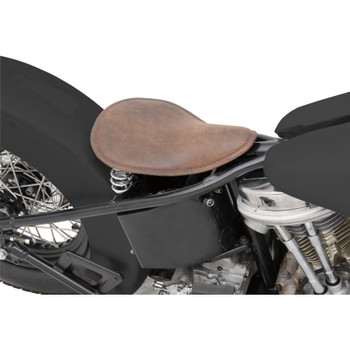 Drag Specialties Small Low-Profile Spring Solo Seat - Distressed Brown Leather