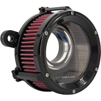 Trask Assault Charge High-Flow Air Cleaner for 2008-2017 Harley Twin Cam Electronic Throttle - Gloss Black