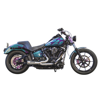 Two Brothers Racing Shorty Turnout Exhaust for 2018-2020 Harley Softail* - Stainless