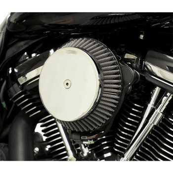 LA Choppers Plain Cover Big Air Cleaner for Harley Twin Cam Cable Throttle - Chrome