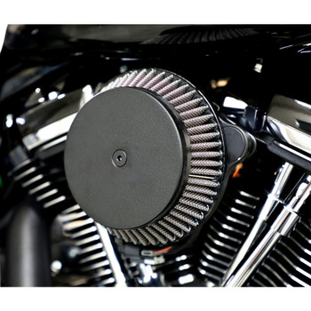LA Choppers Plain Cover Big Air Cleaner for Harley Twin Cam Cable Throttle - Black