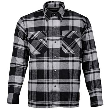 Cortech Bender Armored Moto Flannel Shirt - Storm Grey