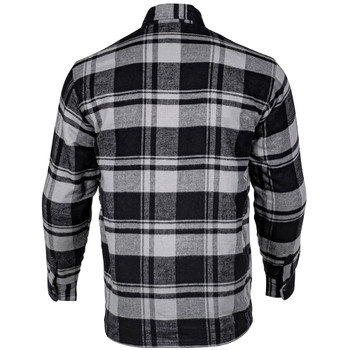 Cortech Bender Armored Moto Flannel Shirt - Storm Grey