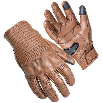 Cortech Bully Ventilated Short Cuff Leather Gloves - Brown