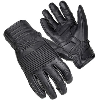 Cortech Associate Mid-Length Cuff Leather Gloves - Black