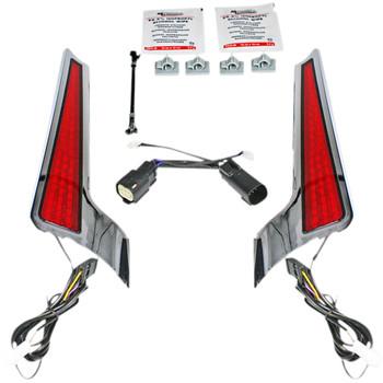 Custom Dynamics Fascia LED Panels for 2010-2013 Harley Touring - Chrome