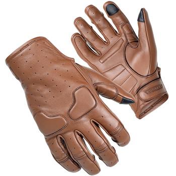 Cortech Slacker Short Cuff Leather Gloves - Brown