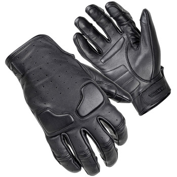 Cortech Slacker Short Cuff Leather Gloves - Black