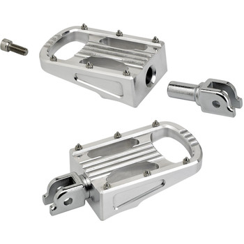 Biltwell Punisher XL Rider Foot Pegs for 2018-2020 Harley Softail - Polished