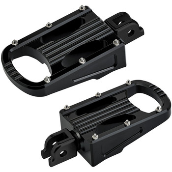 Biltwell Punisher XL Rider Foot Pegs for 2018-2020 Harley Softail - Black