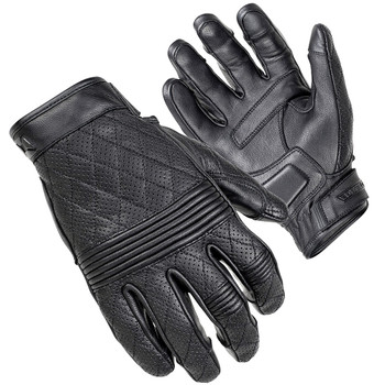 Cortech Scrapper Diamond Quilted Women's Leather Gloves - Black