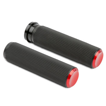 Arlen Ness Knurled Fusion Grips for Harley Electronic Throttle - Red