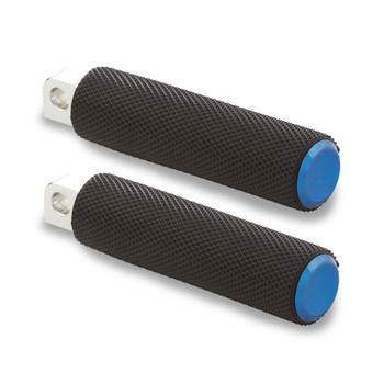Arlen Ness Knurled Fusion Foot Pegs for Harley - Blue