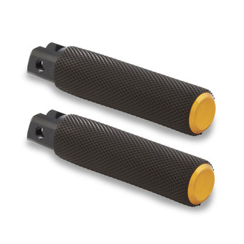 Arlen Ness Knurled Fusion Foot Pegs for Harley - Gold
