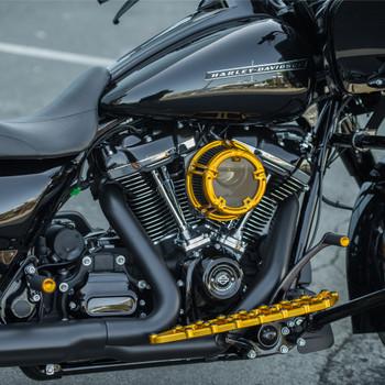 Arlen Ness Knurled Shifter Peg for Harley - Gold