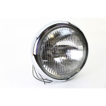 "V-Twin 7"" Round Headlight 6 Volt for 1949-1984 Harley"