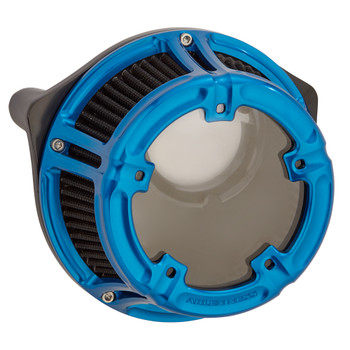 Arlen Ness Method Clear Series Air Cleaner for 1991-2020 Harley Sportster - Blue