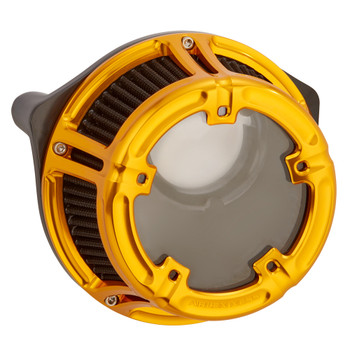 Arlen Ness Method Clear Series Air Cleaner for 2017-2020 Harley M8 - Gold