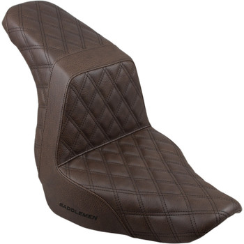 Saddlemen Full LS Step-Up Seat for 2018-2020 Harley FXLR/FLSB - Brown