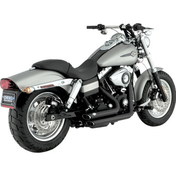 Vance & Hines Shortshots Staggered Exhaust for 2006-2011 Harley Dyna - Black
