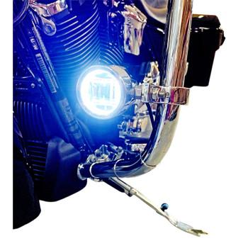 Custom Dynamics Probeam LED Halo Fog Lights for 2014-2020 Harley Touring - Chrome