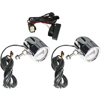 Custom Dynamics Probeam LED Halo Fog Lights for 2009-2013 Harley CVO - Chrome