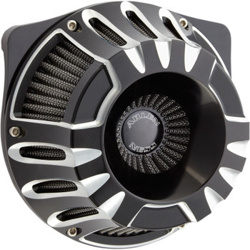 Arlen Ness Deep Cut Inverted Air Cleaner for 2017-2020 Harley M8 - Black