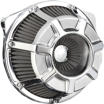 Arlen Ness Bevelled Inverted Air Cleaner for 2017-2020 Harley M8 - Chrome