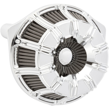 Arlen Ness 10-Gauge Inverted Air Cleaner for 2017-2020 Harley M8 - Chrome