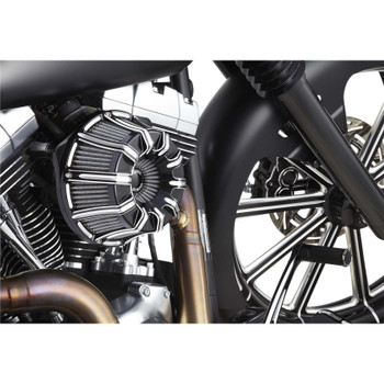 Arlen Ness 10-Gauge Inverted Air Cleaner for 2017-2020 Harley M8 - Black