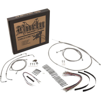 Burly Handlebar Cable and Brake Line Kit for 2017-2020 Harley FLHX/FLHT with ABS - Stainless