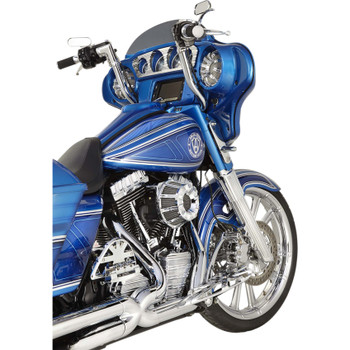 Arlen Ness 10-Gauge Inverted Air Cleaner for Harley Twin Cam Electronic Throttle - Chrome