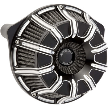 Arlen Ness 10-Gauge Inverted Air Cleaner for Harley Twin Cam Electronic Throttle - Black