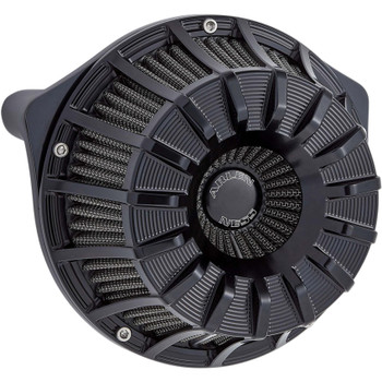 Arlen Ness 15-Spoke Inverted Air Cleaner for Harley Twin Cam Electronic Throttle - Black