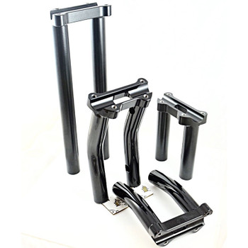 Bung King One Piece Custom Lower Handlebar Riser for Harley - Made to Order
