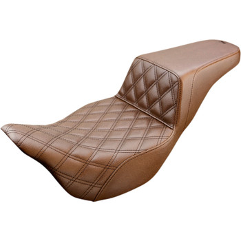 Saddlemen Front LS Step-Up Seat for 2008-2020 Harley Touring - Brown