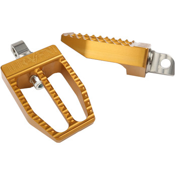 Thrashin Supply Militant Foot Pegs for Harley - Gold