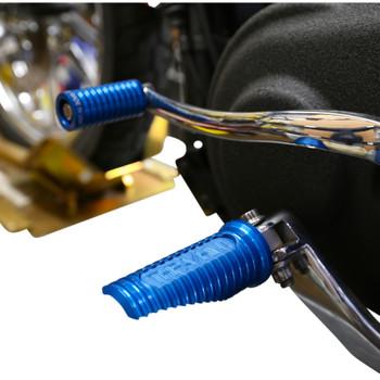 Thrashin Supply Canyon Foot Pegs for Harley - Blue