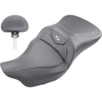 Saddlemen Road Sofa CF Seat with Backrest for 2008-2020 Harley Touring