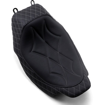 Mustang Revere Journey Diamond Solo Seat for 2008-2020 Harley Touring - Gray