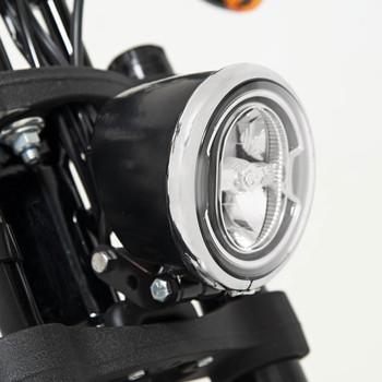 Memphis Shades Headlight Trim Ring/Shroud Kit for 2020 Harley Low Rider S FXLRS