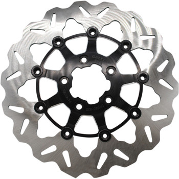 "Galfer 11.8"" Full-Floating Wave Front Brake Rotor for 2008-Up Harley* - Contrast"