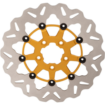 "Galfer 11.8"" Full-Floating Wave Front Brake Rotor for 2008-Up Harley* - Gold"