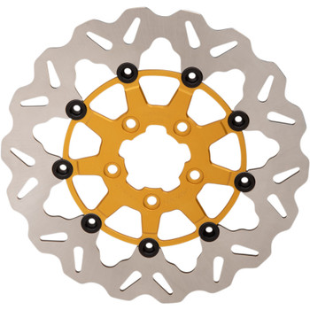 "Galfer 11.5"" Full-Floating Wave Front Brake Rotor for 2000-2014 Harley* - Gold"