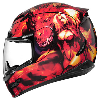 Icon Airmada Helmet - Azrael Red